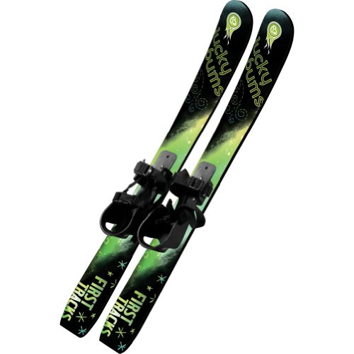 Lucky Bums 70cm Kids Beginner Snow Skis without Poles