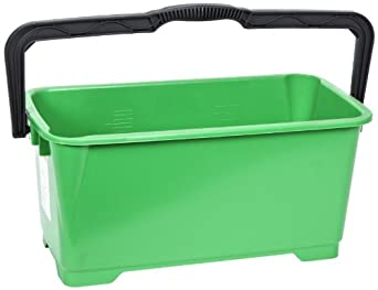 "Unger QB220 6 gallon Pro Bucket Fits 18"" Washer, Green with Black Handle"