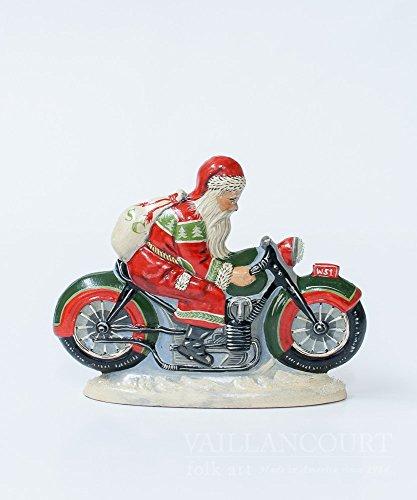 Vaillancourt Folk Art Collector's Design Series Santa on Motorcycle