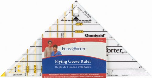 (Fons & Porter R7846 Flying  Geese Triangle Ruler)