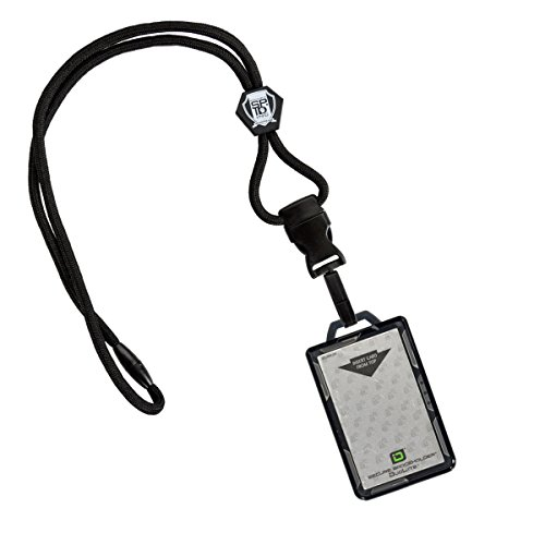 Identity Card Holders - Specialist ID Heavy Lanyard and Identity Stronghold 2-Card RFID Blocking Badge Holder (Black)