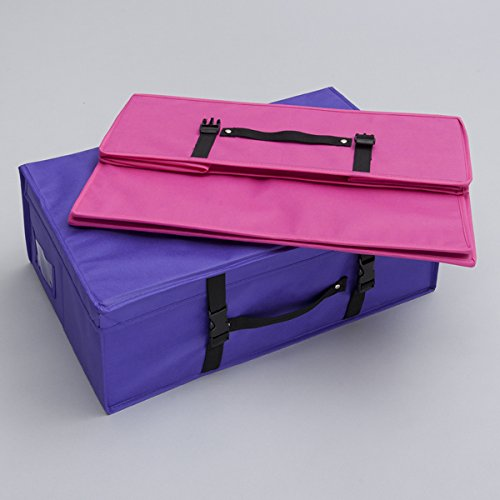 Wedding Dress Bridal Storage and Travel Box - Foldable, pH neutral, water resistant (Purple) by Foster-Stephens, inc