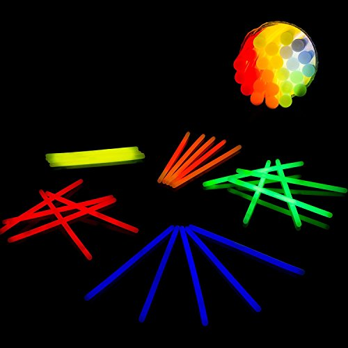 """Fun Central V79 10"""" Large Glow Sticks - Assorted Colors 25ct"""