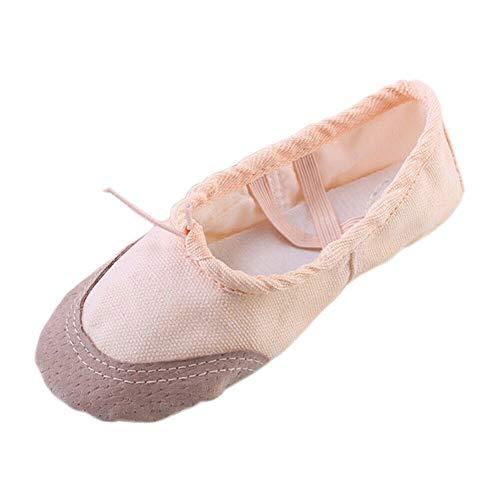 Cuir Peau Semelle Meijunter Pantoufles Avec Plates Bande Non Danse Gymnastique En Yoga Slip Toile De Fille Ballet Élastique Adultes Femmes Chaussures x1fqw18RY