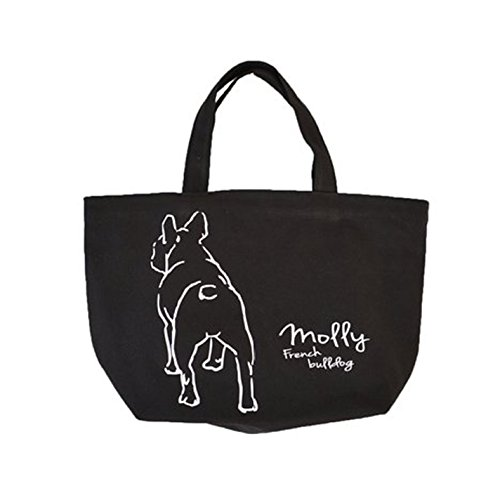 French bulldog French bulldog back body Canvas Bag for lunch or walking BLACK color (Frenchie Costumes)