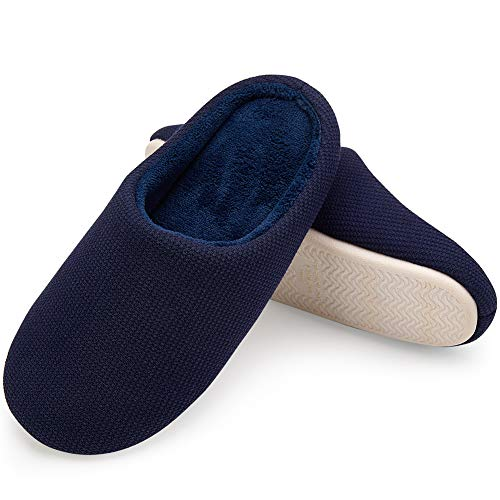 House Memory Navy Slipper VIFUUR Indoor Men's Causal Shoes Cushioned Foam Comfort 8Pw5pxZqa