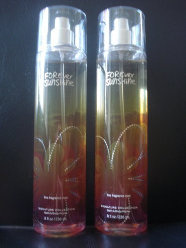 Bath and Body Works (2) Forever Sunshine Fine Fragrance Mist 8 oz.