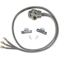 Certified Appliance Accessories 3-Wire Open-Eyelet 30-Amp Dryer Cord, 6ft