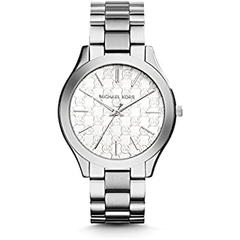 Michael Kors Womens Slim Runway Japanese Quartz Movement Stainless Steel Watch, Color Silver-Toned (Model: MK3371)