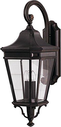 Feiss OL5404GBZ Cotswold Lane Outdoor Patio Lighting Wall Lantern, Bronze, 3-Light (12