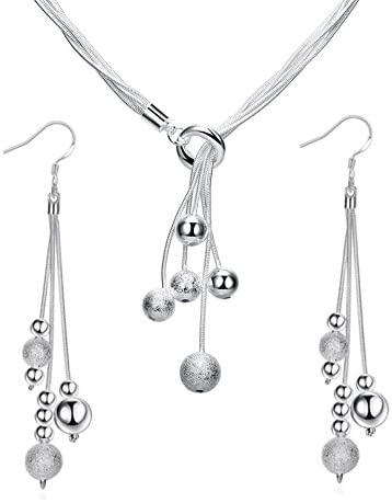 ISAACSONG DESIGN Sterling Y Shape Necklace Earring product image