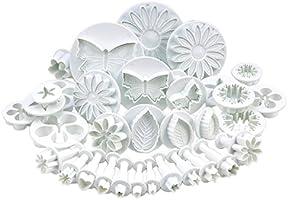 BestMall - Set de 10 juegos de utensilios de repostería para corte y decoración, diseño de hoja, flor, margarita, girasol, estrella, corazón, mariposa, rosa, cáliz, clavel y más