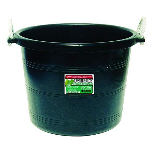 (Tuff Stuff Products MCK70BK Muck Bucket, 70-Quart, Black)