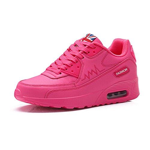 Kivors Zapatos de Deportes Mujer Zapatillas de Correr para Mujer Aire Libre Deporte Montaña y Asfalto Transpirables Casual Zapatos Gimnasio Correr Rosa 2
