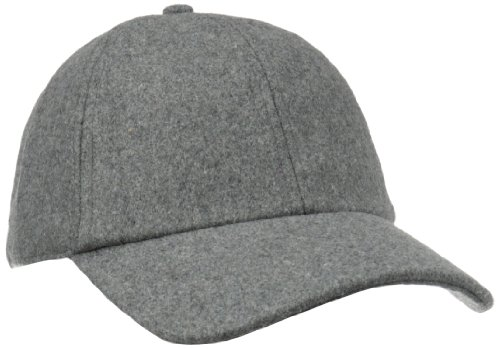 Grey Wool Hat - San Diego Hat Company Women's Wool Baseball Hat with Adjustable Back, Charcoal, One Size