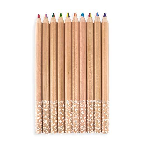 Kaleidoscope Multi Colored Pencils - Set of 10