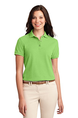 Port Authority Womens Silk Touch Polo M Lime