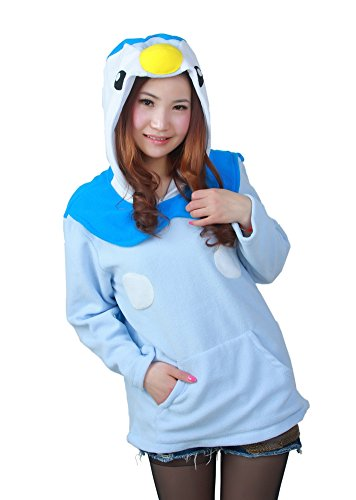 OLadydress Cute Animal Hoodie Jackets Unisex Adult Sweatshirts With Side Pockets PGUN-BU Small Penguin Kids Hoodie