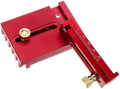 Angle Measuring Ruler Engineers Square Aluminum Alloy Depth Gap Gauge Woodworking Depth Measuring Ruler (Size : T1+T2)