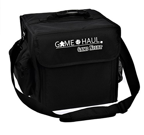 Game Haul: Game Night Padded Board Game Carrying Bag with Handle & Shoulder Strap