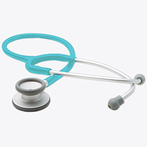 ADC Adscope Lite 609 Ultra Lightweight Clinician Stethoscope, 31 inch Length, Turquoise (Non Chill Bell)