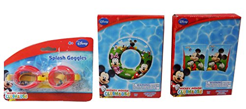 Junior Club Chair (Disney's Mickey Mouse Clubhouse 3 Piece Summer Swim Set - Splash Goggles, Arm Bands, and Swim Ring)