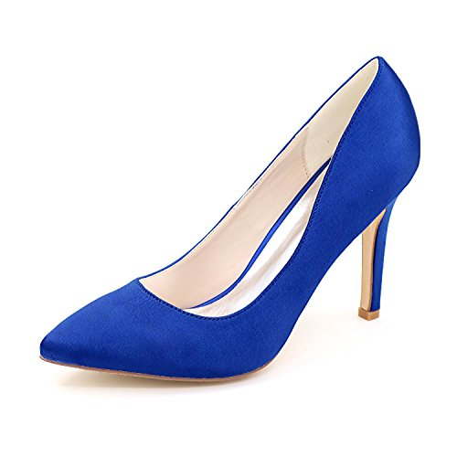 Kitten L Available F0608 Heels YC Party More Night Married Silk Wedding Blue Tip 01 Women's High Colors qBFqrw0T