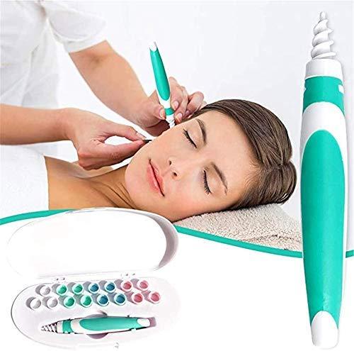 Entfernen von Ohrenschmalz mit weichem Spiralreiniger Verhindern Sie Ohrstocher-Werkzeuge f/ür Menschen Ohrenschmalz Entferner Tragbare Ohr Reiniger,Ohrenreiniger mit 16 waschbaren Spitzen