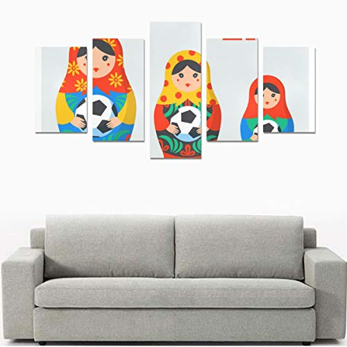 - HYTCSY Wall Art for Women Light Wall Art Set of Russian Nesting Dolls No Frame 5 Pieces Paintings Posters Prints On Canvas Hang for Bedroom Home Office Wall Decor