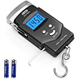 Dr.meter Backlit LCD Display Fishing Scale, 110lb/50kg Electronic Balance Digital Fishing Postal Hanging Hook Scale with…