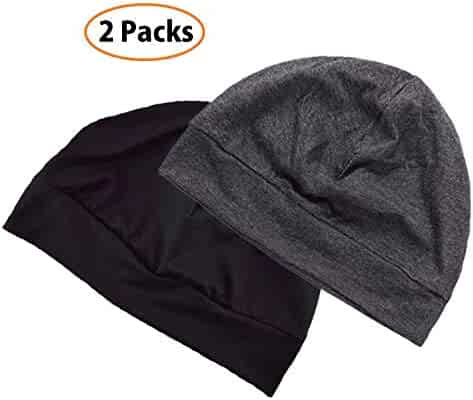 9f66fa57 Headshion Skull Cap Beanie for Men & Women, 2-Pack Unisex Multifunctional  Headwear Sleep