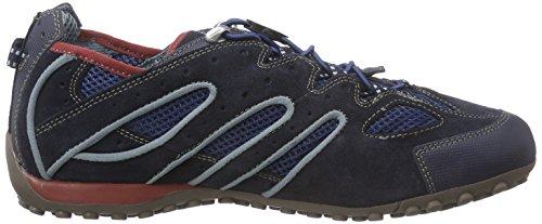 GeoxU Snake J - Zapatillas de Deporte Hombre Azul - Bleu (Cf44R)