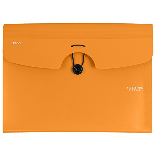 Five Star 6-Pocket Expanding File, 13 x 9.38 Inches, Orange (72923)