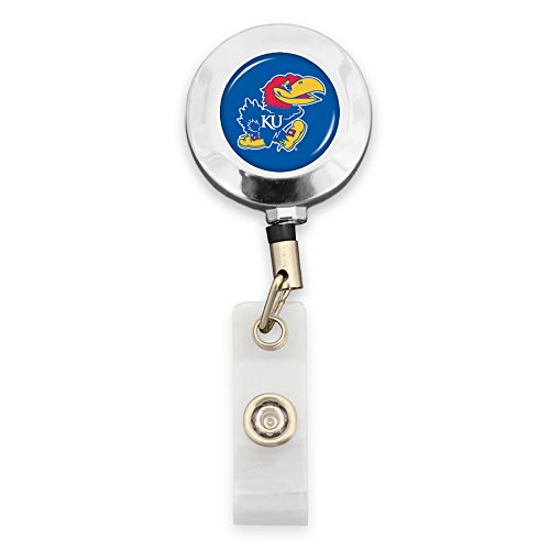 FTH Kansas Jayhawks Badge Reel with Alligator Clip