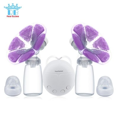 Powerful Double Intelligent Microcomputer USB Electric Breast Pump with Milk Bottle Cold Heat Pad Nipple