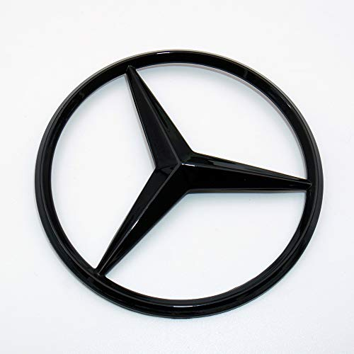 US85 Direct Mercedes-Benz Luggage Lid Adhesive Nameplate Star Logo Trunk Rear Emblem W205 Modified C-Class C 300 C43 C 63 S C 450 Sedan (Gloss Black)