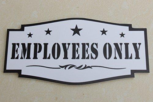 Meijiafei Employees Only Door Sign Entrance(6