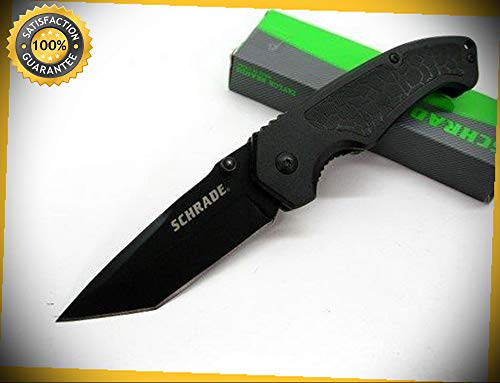 Tactical-Black-Straight-Folding-Linerlock-Tanto-Pocket-Sharp-Knife-SCH208-perfect-for-outdoor-camping-hunting