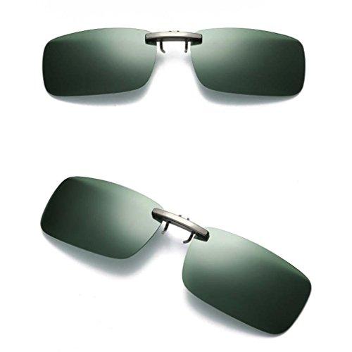 UV400 Sol de Baoblaze con Polarizadas Miopía Deporte Hombre para Conducción Clip de Anteojos verde Mujer oscuro Viaje Gafas q8qHC