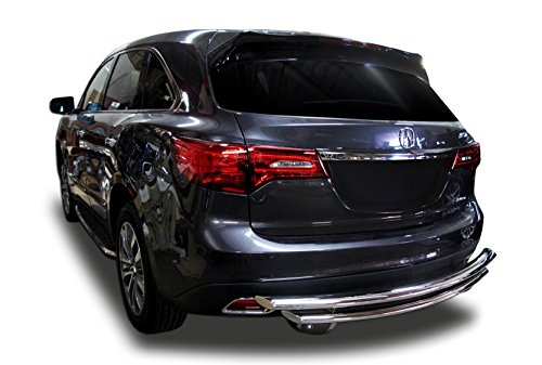 Broadfeet Stainless Steel Rear Bumper Guard Double Layer for 2014-2016 Acura MDX