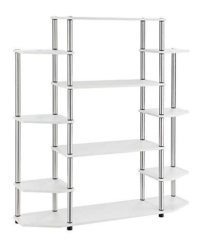 Convenience Concepts 131201W Designs2Go Wall Unit Bookshelf, White (Wall Units Furniture White)