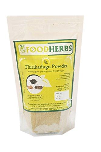 Cheap Foodherbs Trikatu/Thrikadugu Powder (Ginger, Long Pepper, Black Pepper) (200 Gm/0.44 Lbs) (Top Quality)
