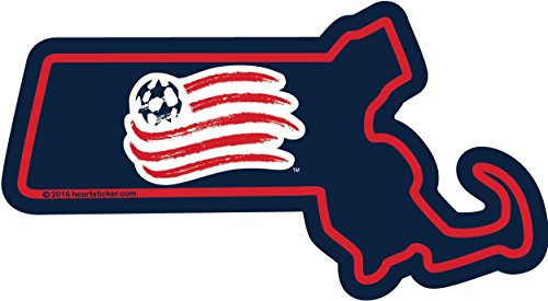 New England Revolution Sticker Vinyl Decal Label Stickers, Die-Cut Shape for Water Bottle Laptop Luggage Bike Laptop Car Bumper Helmet Waterproof Show Love Pride Local - Stickers Scrapbook New Sticky