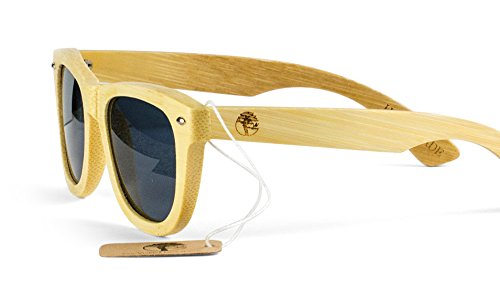 Real Solid Handmade Wooden Sunglasses for Men, Polarized Lenses with Gift Box - Sunglasses Organic