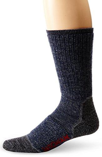 Wigwam Men's Merino Lite Hiker Midweight Crew Socks,Navy,Large/shoe Size:Men's 9-12,Women's 10-13 ()
