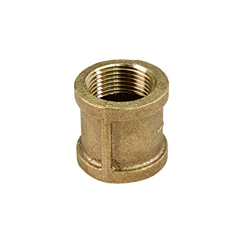Everflow BRCP0034-NL 3/4 Inch Two Female NPT Threaded Lead Free Brass Coupling, Connecting Pipes and Fittings, Brass Construction, Higher Corrosion Resistance, Economical & Easy to Install