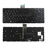GinTai Laptop US Backlit Keyboard Replacement for Toshiba Compatible with Satellite E45-B4100 E45-B4200 E45t-B4204 E45T-B E45-B Series L40-B