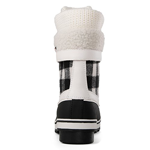 Win Waterproof Black White1738 Snow Boots Global GLOBALWIN Winter Women's d7xfHnz