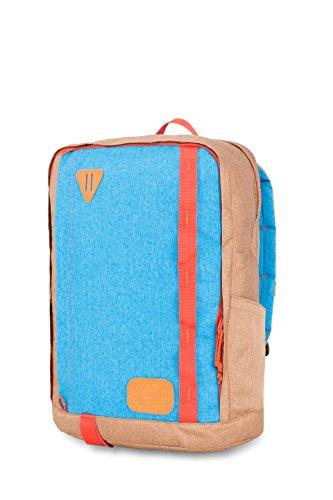 High Sierra Square Pack Backpack, Coconut/Sky/Red - Sling High Sierra