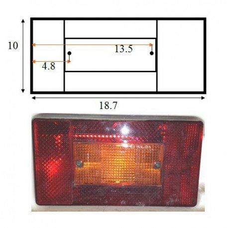 Piloto trasero izquierdo Ind// Com AJBA para remolques freno Funciones: posici/ón intermitente Medidas: 100x190cm matr/ícula y antiniebla